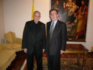 Roberto con Cardinale Bergoglio