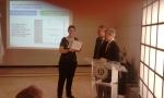 La Carta del Rotary Community Corps consegnata a Marzia Giua  da Morelli e Perrone