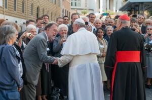 Roberto e Papa Francesco