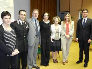 Alcuni relatori, organizzatori e sponsor della  proiezione NEFARIOUS