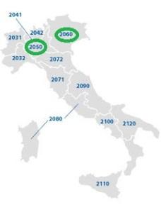 Distretti aderenti al 21 luglio 2014