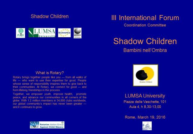Shadow Children Forum Program