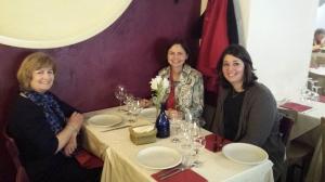 PDG Judith Diment con gli amici a Roma, Laua Dryjanska e Marzia Giua